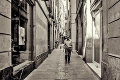 Slow walking... (Barcelona 2015) (Wallywest1968) Tags: barca barcelona 2015 bw
