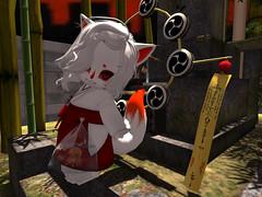 Happy new year <3 (Yukiterudiary) Tags: new year mesomeso avatar kitsune sl second life kawaii cute octopus chibi