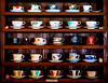 Teacups (stickyfiddle) Tags: japan shrine temple ghibli tea cups kitchen shelves cafe travel cup