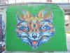 225 (en-ri) Tags: 44 rems 182 truly design 2016 volpe fox testa head verde arancione blu torino wall muro graffiti writing parco dora