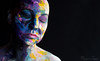 naomi170108-107-Edit (Naomi Creek) Tags: portrait selfportrait selfdiscovery paint face artistic artist painted painting texture female colour light dramatic color girl art canvas me