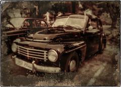 Vintage Volvo (NoJuan) Tags: tintype tintypeapp iphone6 iphoneedit nikoncoolpix995 volvo pv544 vintagedigital
