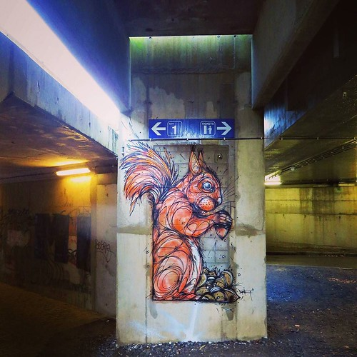 #bonappetit mr #squirrel / #Art by #dzia at #groenendaal #trainstation - #brussels #Belgium #streetart #graffiti #streetartbel #streetart_daily #urbanart #urbanart_daily #graffitiart_daily #graffitiart #streetarteverywhere #mural #wallart #bxl #ilovestree