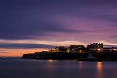 In the pink (James Waghorn) Tags: nikkor35mmf18 broadstairs d7100 longexposure cliffs water reflections clouds whitecliffs winter kent harbour sea england