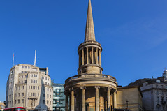 Three in One (John Maloney FSA Scot) Tags: london england bbc nash artdeco postoffice uk church architecture