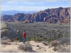 Desert Hiker (Explored) (Runemaker) Tags: snowcanyon utah statepark wilderness desert landscape nature hiking sandstone redrock karl