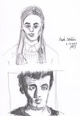 People Sketches 2 (jimblodget) Tags: pen sketch portrait faces people pencil ink penandink