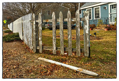 Man Down (Timothy Valentine) Tags: 2017 centralstreet large friday 0117 fence eastbridgewater massachusetts unitedstates us
