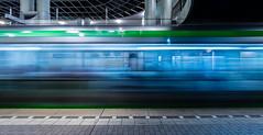 Fast train (katrin glaesmann) Tags: stadtbahn 4 königswortherplatz station tube metro hannover üstra blue green