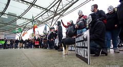 OPawakening Gent17 (Red Cathedral [FB theRealRedCathedral ]) Tags: sony a6000 eventcoverage sonyalpha mirrorless alpha anonymous opawakening gent gentsintpieters station occupy maskedfaces mask guyfawkes vforvendetta