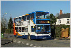 Stagecoach 18198, Watts Lane (Jason 87030) Tags: newbold hillmorton rugby warks warwickshire dennis trident alx400 sony alpha a6000 ilce nex sunny wattslane 3 2017 kn54zxo doubledecker stagecoach