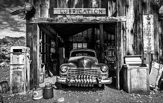 The Old Gas Station - BW