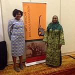 Stephanie Guirand and Dr. Maimouna Barro, WARA reception, ASA, 2014