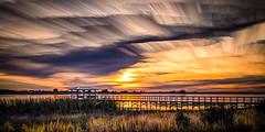 Twin Oaks Conservation Area - Florida (sailor_smb) Tags: sky clouds water lake sunset florida kissimmee osceola twinoaksconservationarea pier fishing fishingpier timestack