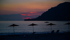 Κρήτη  / Crete / Kreta: Plakiás (CBrug) Tags: kreta plakiás crete fall 2012 plakias abenddämmerung dusk crépuscule plage playa bucht strand greece griechenland grèce grecia ελλάδα south süden süd sud holidays island insel mediterraneansea meer mountains sea spiaggia coast coastline seascape abend evening monochrome monochrom πλακιάσ elláda kríti κρήτη mittelmeer merméditerranée mer méditerranée landschaft landscape outdoor himmel sky ciel cielo blauestunde bluehour