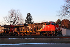 ...and we spring ahead... (view2share) Tags: cn2943 cn canadiannational cold cn516 cnl516 l516 516 minneapolissub deansauvola march142017 march2017 march 2017 eastbound evening gevo ge generalelectric mainline sunset sundown wisconsin wi winter newrichmond stcroixcounty westernwisconsin rr railway railroad railroading railroads rail rails railroaders rring trains track transportation train tracks transport trackage trees freight freighttrain