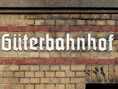 Güterbahnhof (onnola) Tags: tor berlin deutschland germany guesswhereberlin gwb güterbahnhof inschrift typographie typography backstein brick charlottenburg guessedberlin gwbgpeole 1894 gate gebrochenegrotesk reichsbahn blackletter