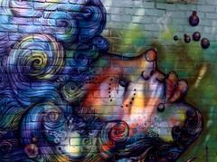 Sea/Wind Hair (a_phoenix_rain) Tags: light sea woman sunlight streetart nature public face hair paint wind publicart rochesterny naturistic walltherapy