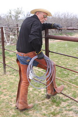 COWBOY PHOTO SHOOT (AZ CHAPS) Tags: ranch arizona leather spurs cowboy boots hats wranglers rope chaps corral