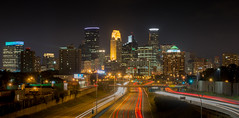 Minneapolis Skyline from I35W (nilesh_jr) Tags: skyline downtown mn