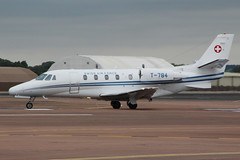 Cessna 560XL Citation Excel Swiss Air Force T-784 (NTG's pictures) Tags: force swiss air gloucestershire cessna raf excel citation fairford riat 2015 560xl t784