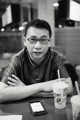 McDonalds Night Out-4 (juzmarc) Tags: leica blackandwhite film monochrome analog blackwhite kodak bokeh trix analogue blacknwhite trix400 leicamp bokehballs