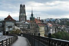 Freiburg (welenna) Tags: castle architecture switzerland herbst kirche himmel stadt freiburg sity