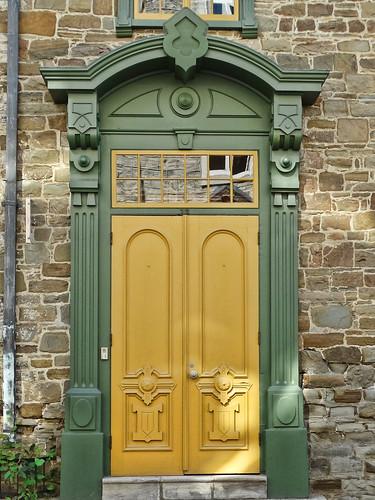 Québec City Yellow Door