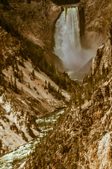 Yellowstone Lower Falls (http://fineartamerica.com/profiles/robert-bales.ht) Tags: water wow spectacular waterfall montana colorful superb awesome scenic surreal peaceful places idaho yellowstonenationalpark sensational yellowstone states wyoming inspirational spiritual sublime magical magnificent inspiring yellowstoneriver haybales stupendous iphone grandcanyonoftheyellowstone haydenvalley usnationalpark landscapephotography canonshooter scenicphotography nationalparkphotography geothermalfeatures subalpineforest americanphotograph northamericanphotography