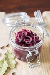 Red cabbage in the Jar (wsf-fl) Tags: red food glass vegan healthy fork fresh vegetarian cabbage jar organic leaflet ingredient clove woodtable bayleaf woodenboard redcabbage bayleaves