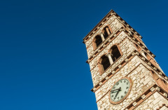 clock tower (born ghost) Tags: italy tower clock architecture time geometry angles medieval historic tuscany saturnia