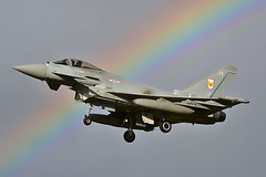 Rainbow Typhoon (np1991) Tags: camera uk two slr digital jw lens one 1 scotland rainbow nikon fighter force exercise bigma aircraft aviation air united royal sigma kingdom f planes eurofighter warrior 50500 500 dslr 50 joint typhoon raf moray fifteen squadron 152 lossiemouth 1f sqn 50500mm lossie d7100 fgr4 jw152