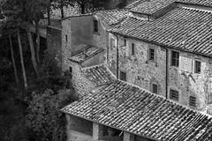 LeCelle Sanctuary, redux, architectural forms and movements, Cortona, Tuscany, Italy, Nikon D40, nikon nikkor 105mm f-2.8, 10.9.15 (steve aimone) Tags: blackandwhite italy monochrome architecture nikon monochromatic architectural tuscany nikkor f28 sanctuary cortona movements 105mm rhythms primelens lecelle nikond40 nikonprime architecturalforms