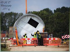 Getting Ready To Lift (dark-dawud) Tags: men workers working lincolnshire slings windfarm gaytonlemarsh dlinks installationofawindfarm