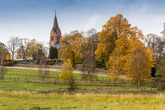 Billinge, Sweden (Ulrich J) Tags: autumn trees fall church landscape skne sweden trer sverige kirke landskab efterr billinge