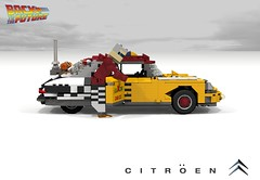 Citroen DS Taxi - 2015 (Back to the Future II - 1989) (lego911) Tags: auto birthday france classic film car movie french back model october lego render taxi bttf citroen ds 21st future biff scifi challenge 8th 6th backtothefuture cad lugnuts 96 povray tannen moc ldd 2015 miniland yourclaimtofame lego911 happycrazyeighthbirthdaylugnuts