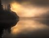 Camhanaich II (GenerationX) Tags: trees mist water silhouette fog sunrise reflections landscape dawn mirror scotland shadows cross unitedkingdom scottish neil calm gb marker trossachs barr gloaming aberfoyle lochard nohorizon kinlochard lochardforest canon6d