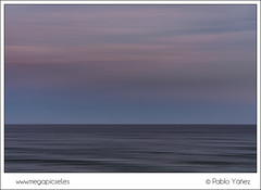 Sky and sand (P. Yez) Tags: ocean longexposure travel sunset sea espaa seascape color colour clouds sunrise atardecer mar spain cabo europa europe waves cloudy murcia amanecer nubes cape olas calblanque regindemurcia