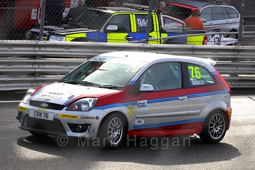 Carlito Miracco on the grid for the Fiesta Junior Championship, Brands Hatch, 2015