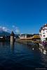 Kapellbrücke | Lucerne, Switzerland (LukeStonesPhotos) Tags: bridge flowers roses tower water buildings river switzerland luzern lucerne lakeluzern lakelucerne kapellbrücke reuss riverreuss