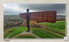Angie : The Angel Of The North (setsuyostar) Tags: camera gateshead tyneside aerialphotography angelofthenorth antonygormley modes aeb kenhawley dynamicphotohdr november2015 hdrtriplet autumn2015 djiphantom3professional