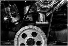 The Machine (Esa Alberto Canto Novelo) Tags: blackandwhite bw cars car herrumbre rust engine machine rusty chrome autos chromed cromado
