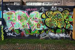 Roxs / Dowt / Paces (Alex Ellison) Tags: urban graffiti boobs beef graff southlondon throwup paces throwie dfn dowt dowta