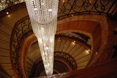 Grand Hyatt Amman - Staircase from the Lobby (jrozwado) Tags: hotel asia amman jordan chandelier staircase hyatt