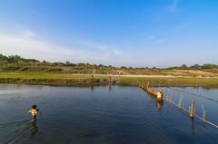 Crossing The River (Dilwar Mandal) Tags: sky water kids clouds river fishing westbengal murshidabad nikond5100