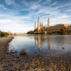 Zaragoza (haelio) Tags: church pilar del river square de spain stream catholic cathedral basilica best zaragoza refelctions nuestra seora catedralbaslica ourladyofthepillar fultrawide cameracanon5d2