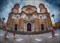 (2198) Catedral de Cdiz (Fisheye world) (QuimG) Tags: church architecture golden andaluca spain arquitectura catedral fisheye panasonic cdiz catedraldecdiz specialtouch quimg quimgranell joaquimgranell afcastell obresdart