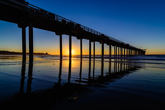 Pier silhouette at sunset 1 (R*Pacoma) Tags: california sunset sky pier nikon colorful sandiego tokina scripps scrippspier 1116 d7100