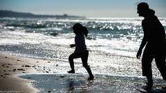 Some pictures remind me of why I love photography. (Raj.Koppula) Tags: beach silhouette kids children kid child sandiego learn ridhi beforechristmas navyavisit