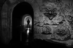 Apparition (Vianney Vaubourg) Tags: noiretblanc graffiti contrejour pont viaduc lumière vosges lorraine france nikoncls bokeh nikon d4s nikkortagofficiel nikkor afs 85mm f14g sb900 sb910 phottix odin vianney vaubourg photographie 2017 autofocus
